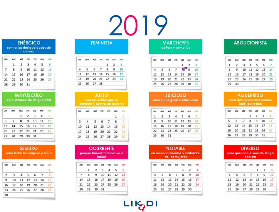 Calendario 2019 - LIKaDI