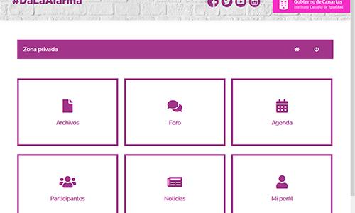 Espacio web colaborativo para la Comisión Técnica de Seguimiento del Protocolo de Coordinación Interinstitucional para la Atención de las Víctimas de Violencia de Género en la Comunidad Autónoma Canaria